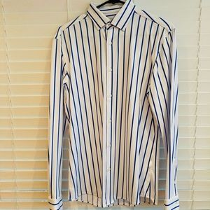 ZARA Blue and White dress shirt - Sz Small